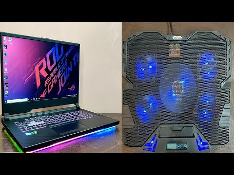 TopMate C5 Cooling Pad Review - Tested on Asus Rog Strix G 🔥