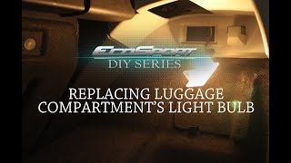 REPLACING LUGGAGE COMPARTMENT'S LIGHT BULB