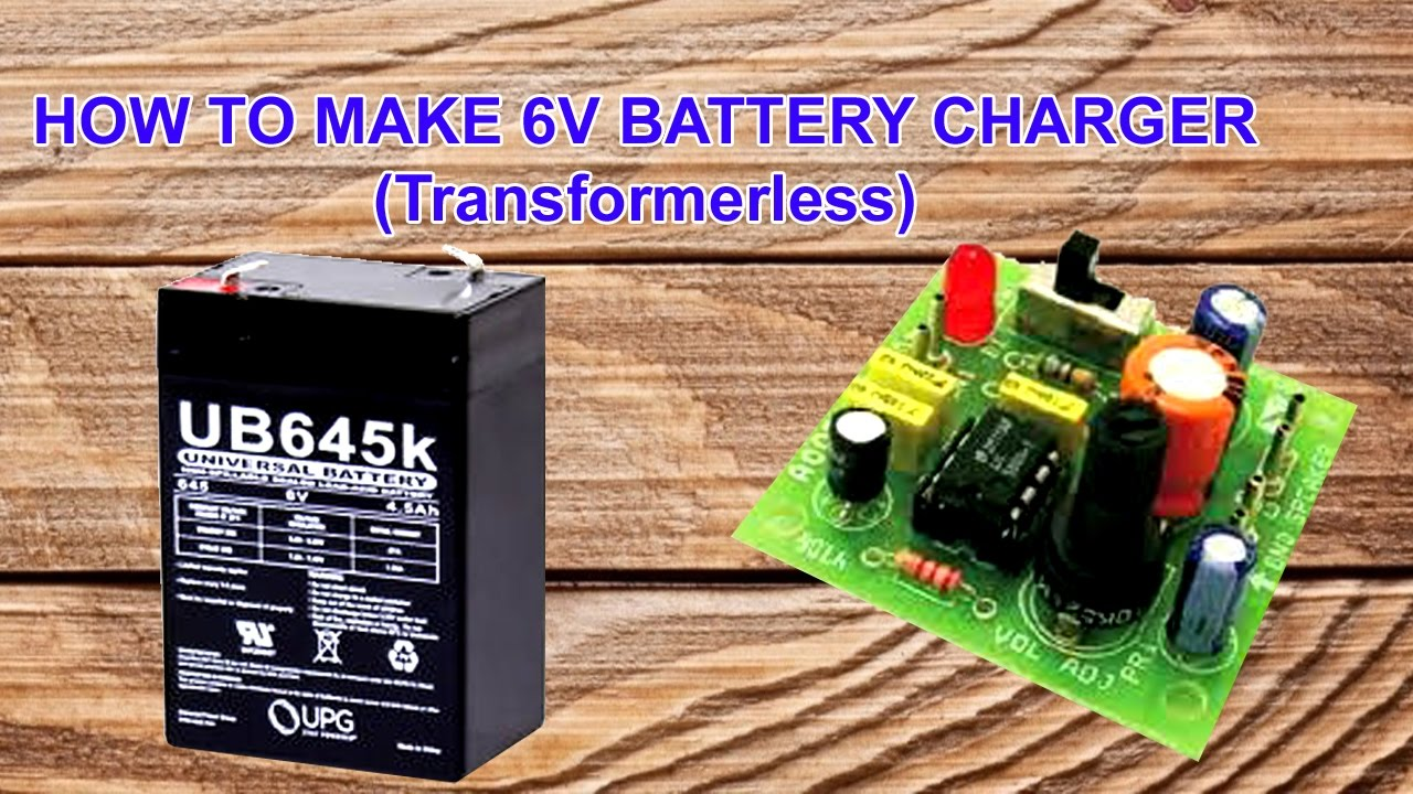 Transformerless Power Supply 6 Volt Charger Youtube Circuit Diagram Of 6v Battery