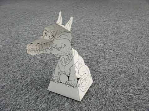 White Dragon Paper Illusion --- 白いドラゴンの錯視ペーパークラフト