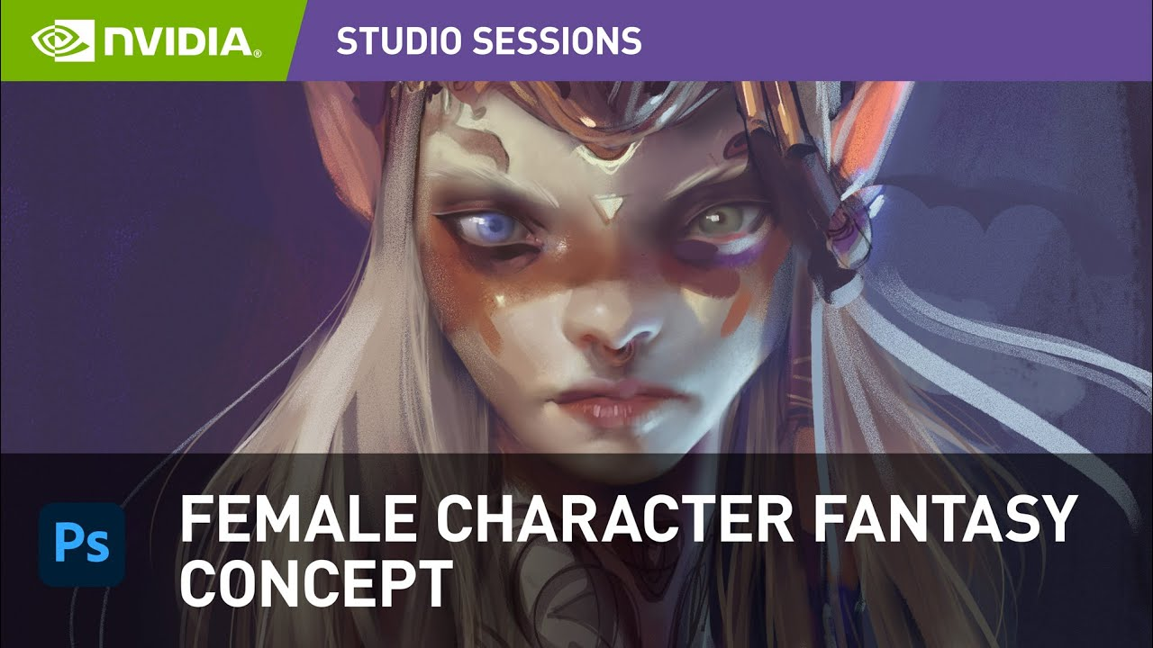 Creating Female Fantasy Character Head Concept Art in Adobe Photoshop w/ Ahmed Aldoori