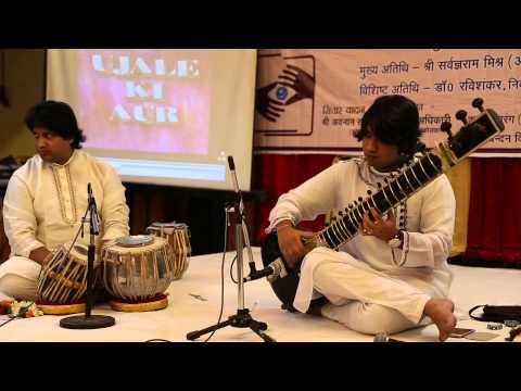 Adnan Khan and Sanjay Adikari play in Varanasi on September 7, 2014