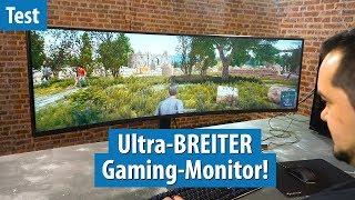 120 Zentimeter: Fritz hat den BREITESTEN Gaming-Monitor im Test   Samsung C49HG90
