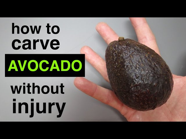 How to ● Cut Avocado ●  without hurting yourself