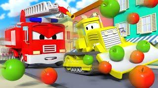Патрулиращи коли -  Откраднатите ябълки - Града на Колите 🚓 🚒 Анимационно филмче за деца