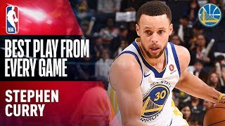 Stephen Curry's Best Play From Every Game of the 2017-18 Season