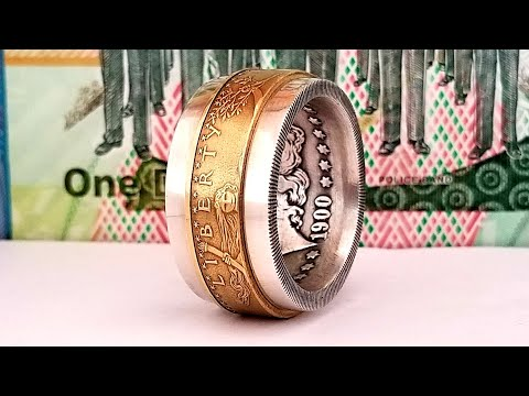 Making A Coin Ring From A Morgan Dollar And 1/2 Oz Gold Eagle