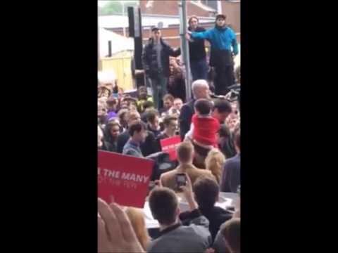 Jeremy Corbyn treated like a rock star in Leeds