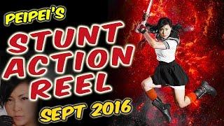PeiPei Alena Yuan : Stunt  Reel 2016 (90 sec)
