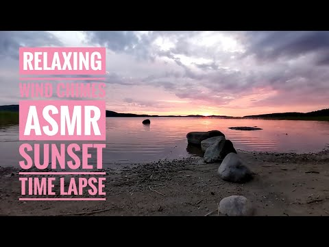 Relaxing Sounds for Sleeping   Wind Chimes ASMR   Sunset Time Lapse   Sleeping, Meditating
