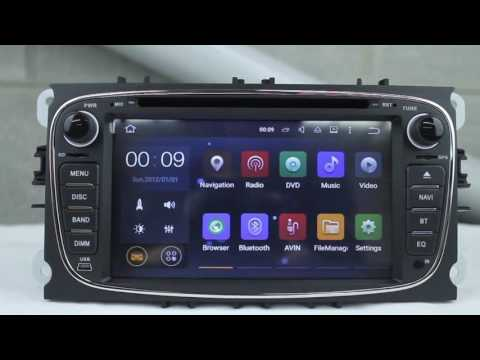 "7"" ANDROID 5.1 64BIT 4-CORE RADIO DVD GPS WIFI FORD SERIES NEGRO"