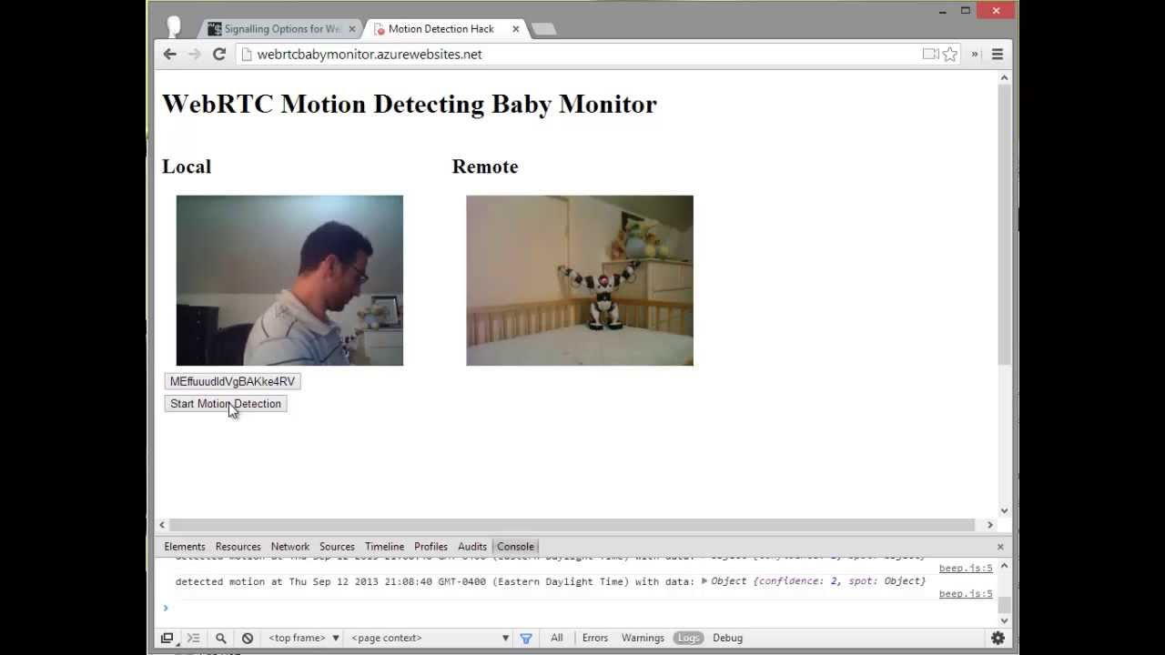 How to Build a Motion Detecting Baby Monitor with WebRTC - webrtcHacks