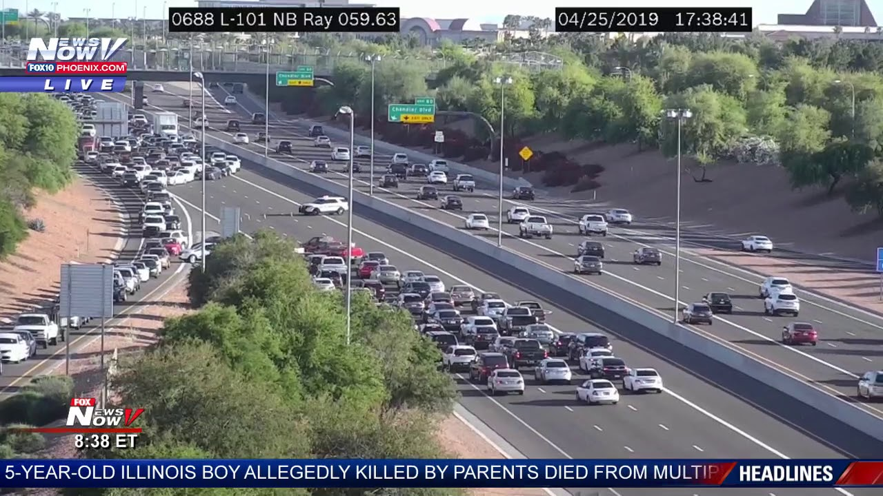 CRASH SHUTS DOWN 101: Some directed, some not drive wrong way to exit  Chandler freeway