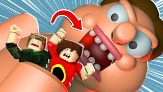 GIANT SWALLOWED US | ROBLOX