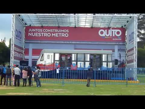 Maqueta tamaño real metro de Quito