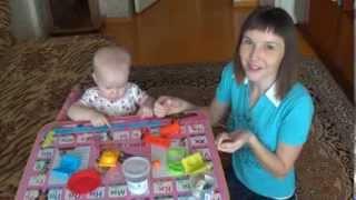 """Лепим из теста для лепки """"Развивашки"""" ♥ Советы молодым родителям ♥ Ребенок 1 год и 4 месяца"""
