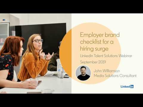 Webinar: Employer Brand Checklist for a Hiring Surge