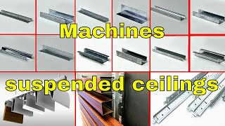 Machine for suspended ceilings:ceiling channel forming machine| furring channel roll forming machine
