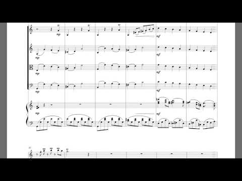 When you wish upon a star - Sheet music for Flute and Piano Quintet (Piano, 2 Violins, Viola, Cello)