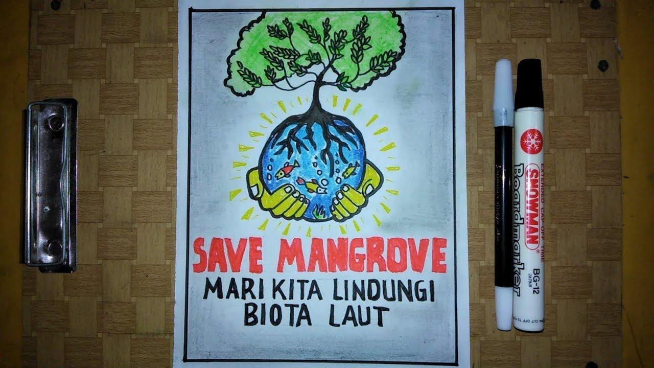 Cara Membuat Poster Pelestarian Lingkungan Lestarikan Hutan