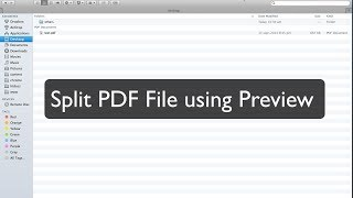 [How To - Mac] Split PDF file using Preview