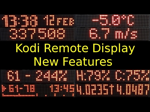 ESP8266 Based Kodi Remote Display - Update And New Features: Weather/information Panel