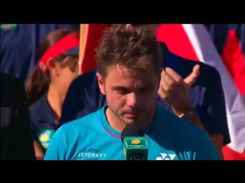 Stanislas Wawrinka congratulate Roger Federer (funny)