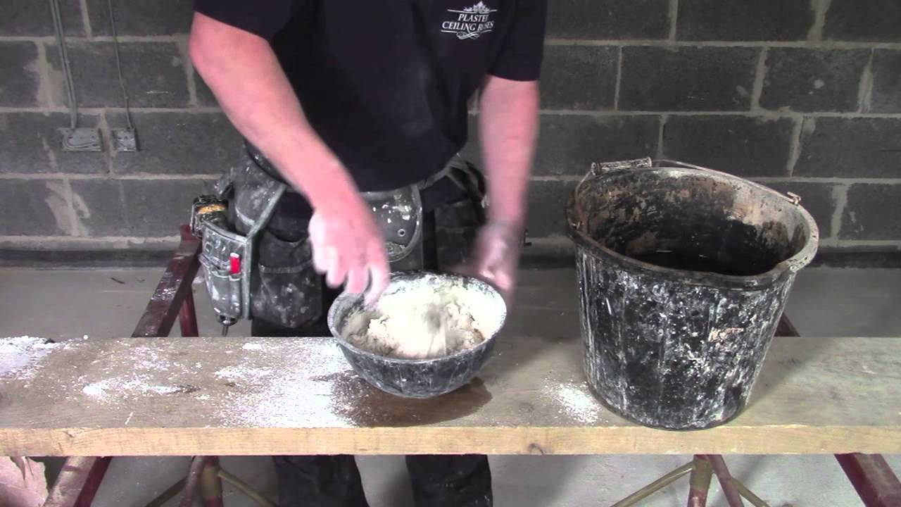 Plaster coving installation how to mix coving adhesive youtube