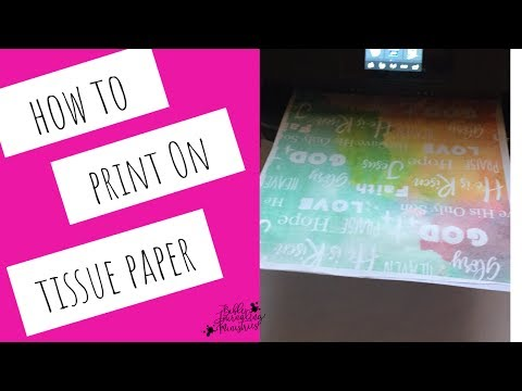 How to Print on Tissue Paper - Alternative Paper Napkin Technique for Bible Journaling