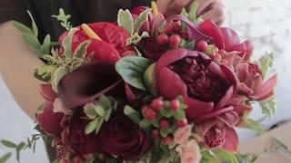 Сборка свадебный букет