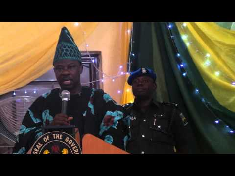 The Ogun state Executive Governor at the Flagging of ARAYE