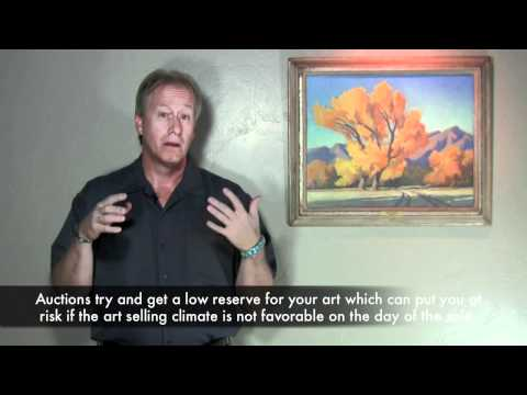 Options for selling your artwork, the how to of selling your art and antiques