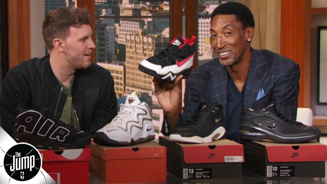 Scottie Pippen shows off his best kicks