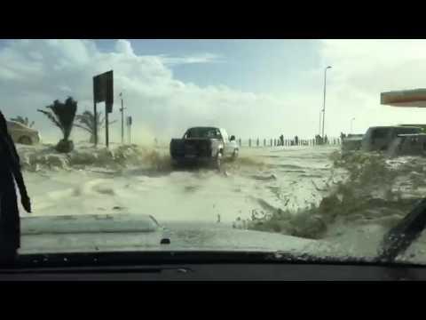 Huge waves crash over roads in the Cape
