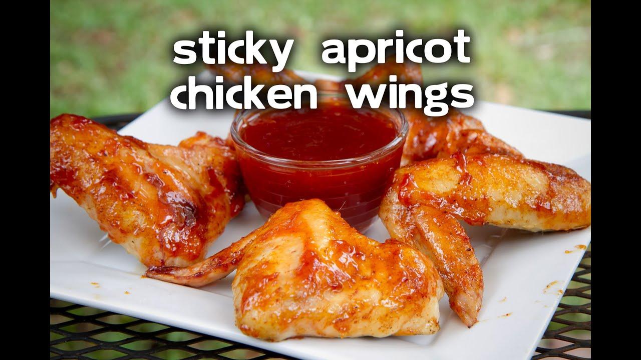 Sticky Apricot Glazed Chicken WingsYouTube