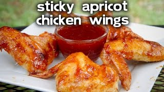 Sticky Apricot Glazed Chicken Wings