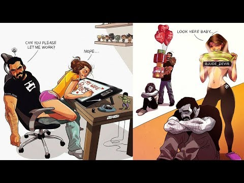 Love Story 💕 Artist Illustrates Cute Comics About His Life With His Wife