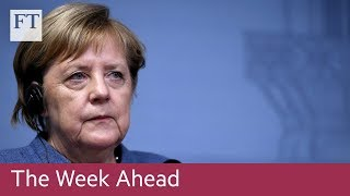 Merkel speech, UK inflation, Walmart results