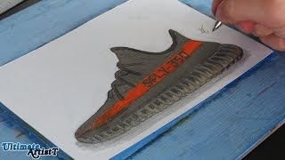 How to Draw Yeezy SPLY 350 V2!