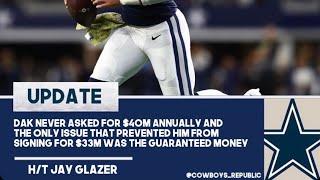 Dak Prescott didn't demand 40 million turned down 33 for guaranteed money