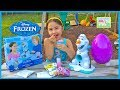 Frozen Olaf Snow Cone Maker + Huge Surprise Egg Opening Disney Junior Sheriff Callie Frozen Videos video