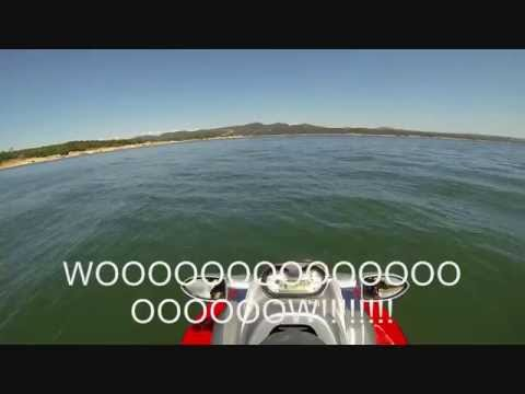 Mom's first time on a jet ski