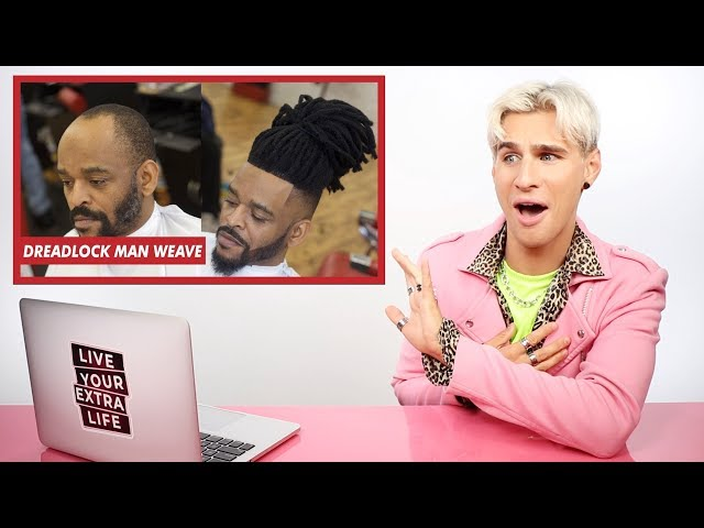 HAIRDRESSER REACTS TO MAN WEAVES