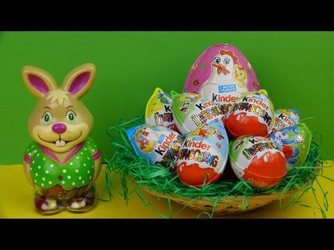 Surprise Eggs Kinder Surprise Maxi Hello Kitty  Пасхальные яйца Киндер Сюрпризы