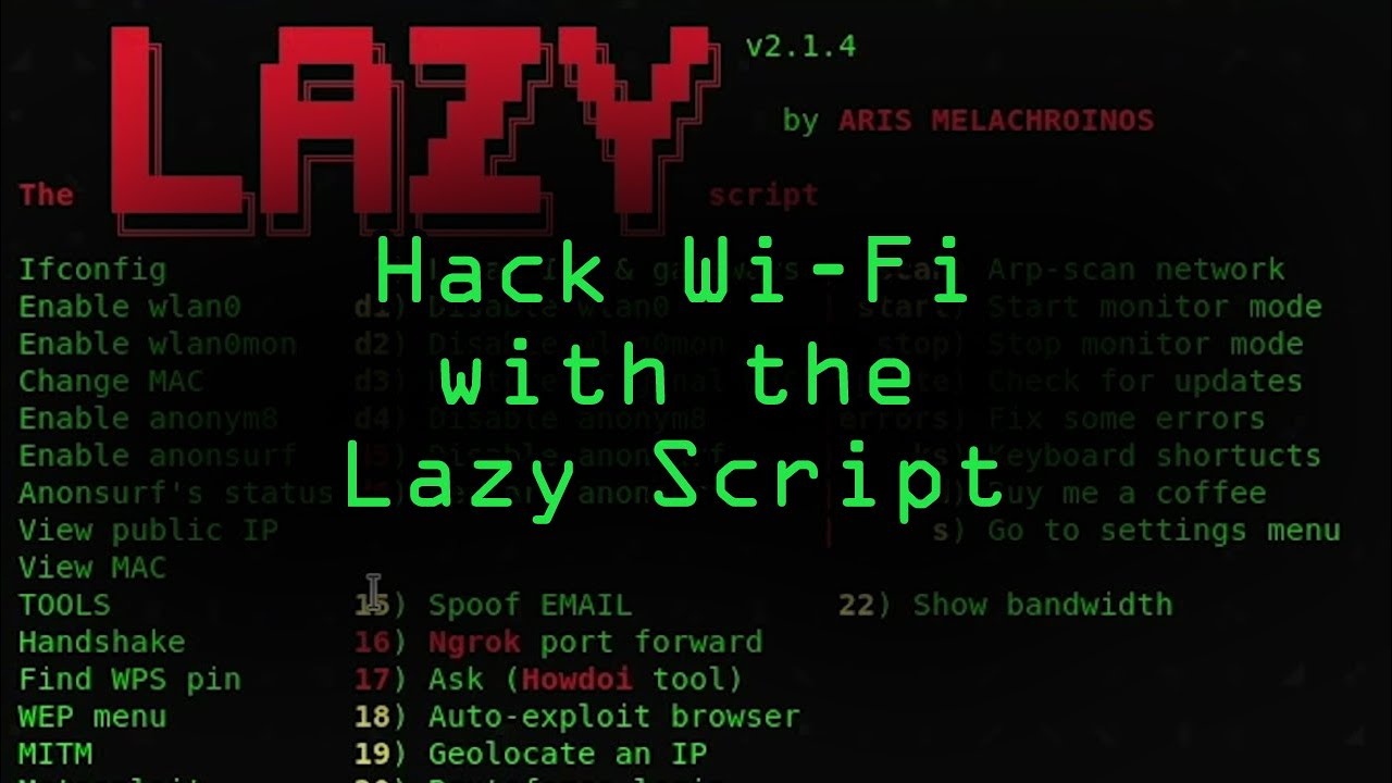 How to Hack Wi-Fi & Networks More Easily with Lazy Script « Null