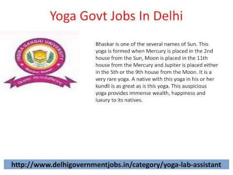 Yoga Government Jobs
