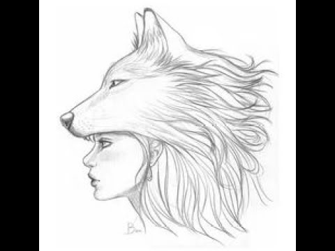 easy how to girl wolf drawing let s learn drawing art on paper for