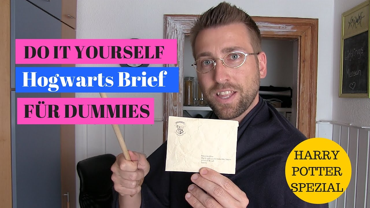 Diy Hogwarts Brief Für Dummies Youtube