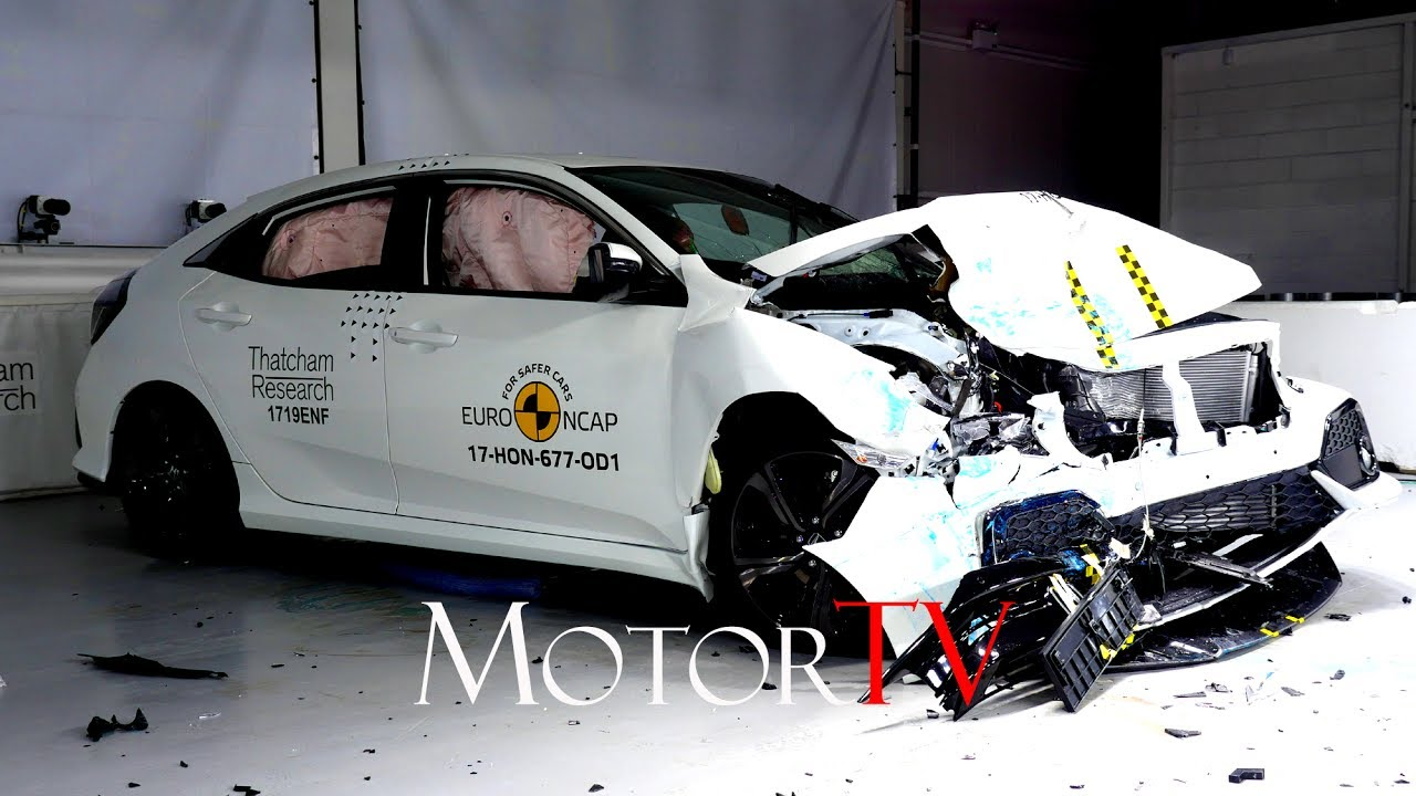 safety : 2017 honda civic 1.0 se rhd l crash test l 4 star rating