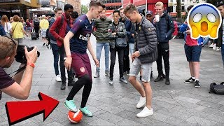 ARSENAL PLAYER NUTMEGS FOOTBALL FANS! (CRAZY WORLD CUP CHALLENGE)